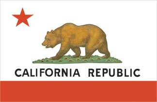 The modern Bear Flag of California. Image provided by Classroom Clip Art (http://classroomclipart.com)