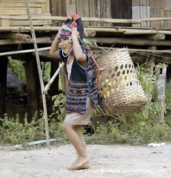 Villager in Northern Thailand. Picture provided by Classroom Clipart (http://classroomclipart.com)