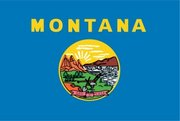 Flag of Montana. Image provided byClassroom Clip Art (http://classroomclipart.com)