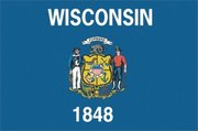 Flag of Wisconsin. Image provided by Classroom Clip Art (http://classroomclipart.com)