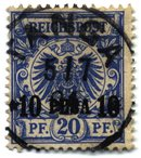 Local currency overprint: , 1893
